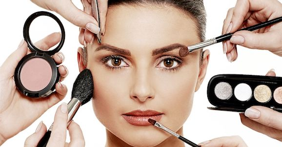 Beauty image with make up products